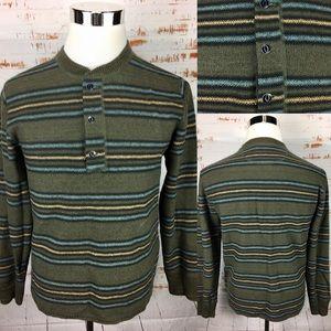 RRL southwestern Henley sweatshirt M Wool Silk